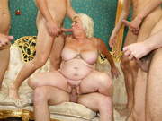 Mature In Gangbang